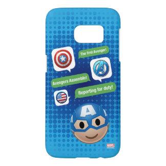 Captain America Emoji Samsung Galaxy S7 Case
