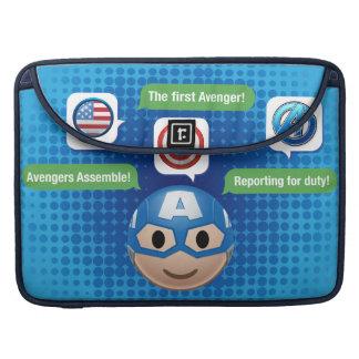 Captain America Emoji Sleeve For MacBook Pro