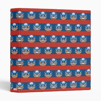 Captain America Emoji Stripe Pattern 3 Ring Binders