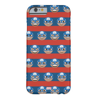Captain America Emoji Stripe Pattern Barely There iPhone 6 Case