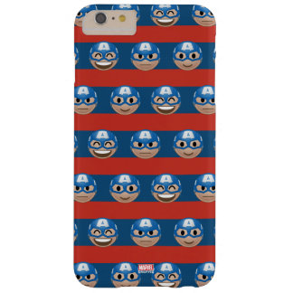 Captain America Emoji Stripe Pattern Barely There iPhone 6 Plus Case