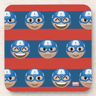 Captain America Emoji Stripe Pattern Coaster