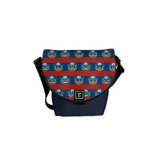 Captain America Emoji Stripe Pattern Commuter Bag