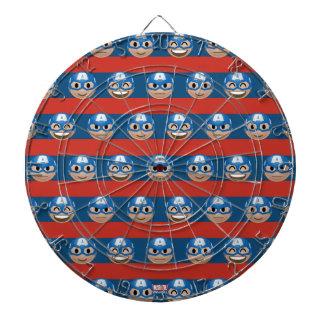 Captain America Emoji Stripe Pattern Dart Board