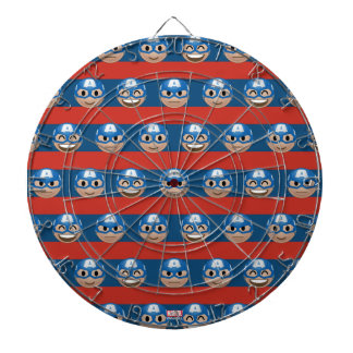 Captain America Emoji Stripe Pattern Dartboard