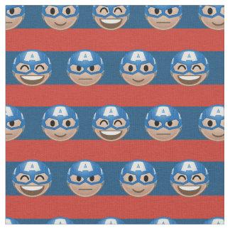 Captain America Emoji Stripe Pattern Fabric