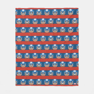Captain America Emoji Stripe Pattern Fleece Blanket