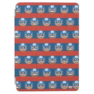 Captain America Emoji Stripe Pattern iPad Air Cover