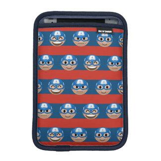 Captain America Emoji Stripe Pattern iPad Mini Sleeve