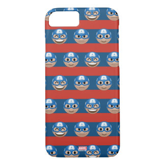Captain America Emoji Stripe Pattern iPhone 8/7 Case