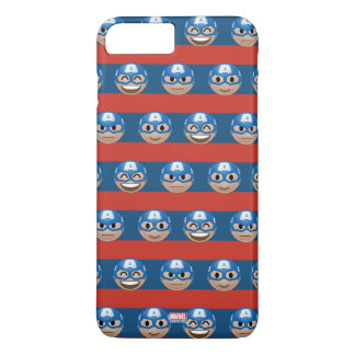 Captain America Emoji Stripe Pattern iPhone 8 Plus/7 Plus Case
