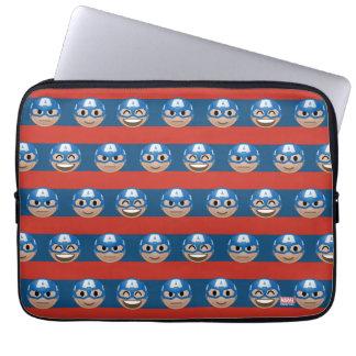 Captain America Emoji Stripe Pattern Laptop Sleeve