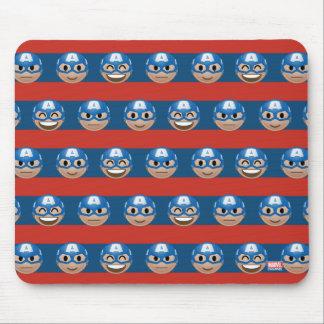 Captain America Emoji Stripe Pattern Mouse Pad