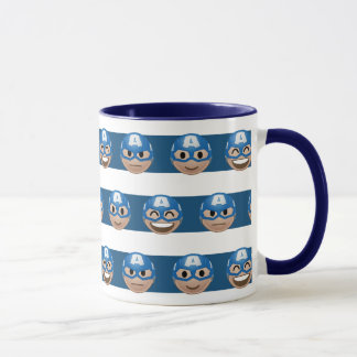 Captain America Emoji Stripe Pattern Mug