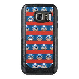 Captain America Emoji Stripe Pattern OtterBox Samsung Galaxy S7 Case