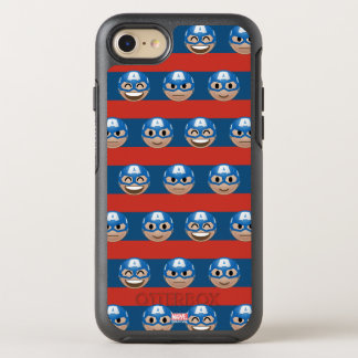 Captain America Emoji Stripe Pattern OtterBox Symmetry iPhone 8/7 Case