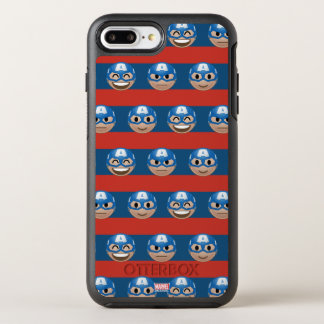 Captain America Emoji Stripe Pattern OtterBox Symmetry iPhone 8 Plus/7 Plus Case