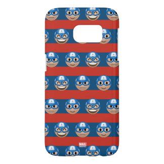 Captain America Emoji Stripe Pattern Samsung Galaxy S7 Case