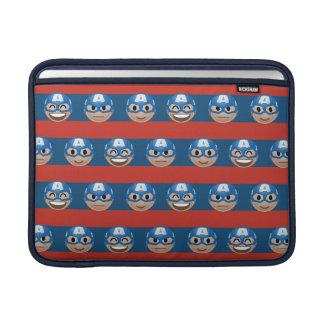 Captain America Emoji Stripe Pattern Sleeve For MacBook Air