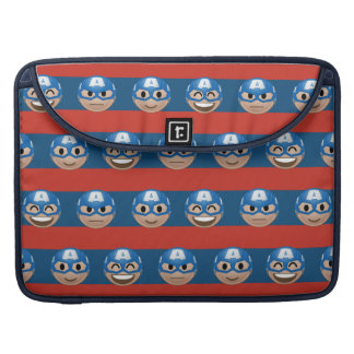 Captain America Emoji Stripe Pattern Sleeve For MacBooks
