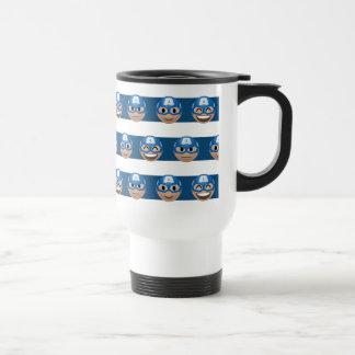 Captain America Emoji Stripe Pattern Travel Mug