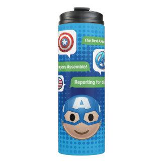 Captain America Emoji Thermal Tumbler
