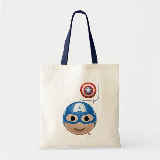 Captain America Emoji Tote Bag