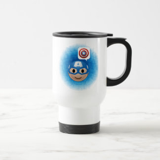 Captain America Emoji Travel Mug