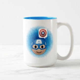 Captain America Emoji Two-Tone Coffee Mug