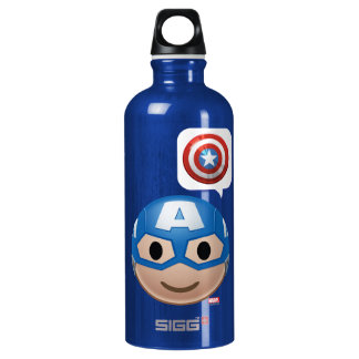 Captain America Emoji Water Bottle