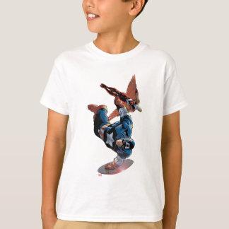 Captain America & Falcon Comic Panel T-Shirt
