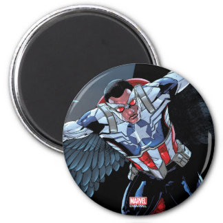 Captain America Fighting Crime 2 Inch Round Magnet