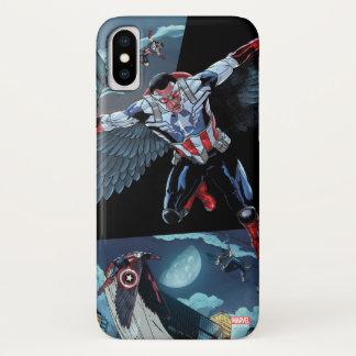 Captain America Fighting Crime iPhone X Case