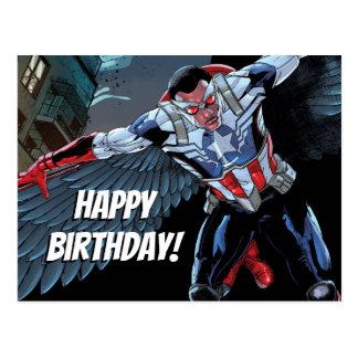 Captain America Fighting Crime Postcard