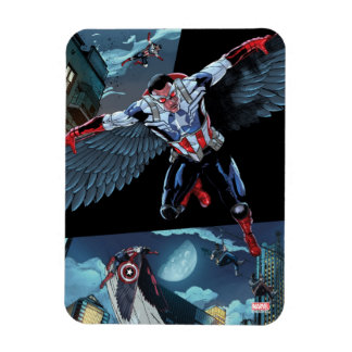 Captain America Fighting Crime Rectangular Photo Magnet