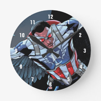Captain America Fighting Crime Wallclocks