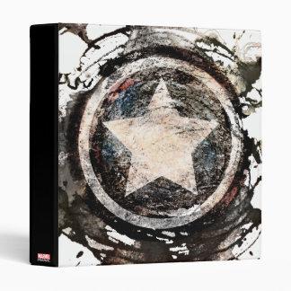 Captain America Grunge Shield 3 Ring Binder