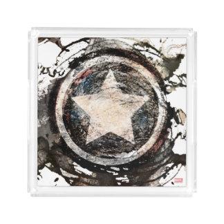 Captain America Grunge Shield Acrylic Tray