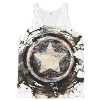 Captain America Grunge Shield All-Over-Print Tank Top