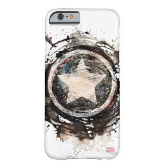 Captain America Grunge Shield Barely There iPhone 6 Case