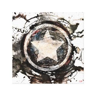 Captain America Grunge Shield Canvas Print