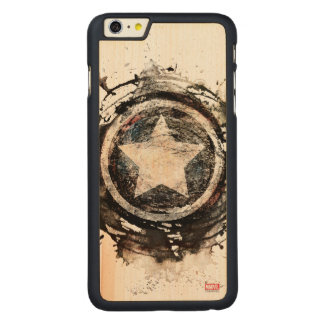 Captain America Grunge Shield Carved® Maple iPhone 6 Plus Case