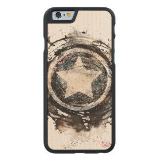 Captain America Grunge Shield Carved® Maple iPhone 6 Slim Case