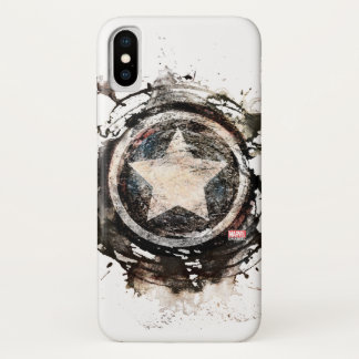 Captain America Grunge Shield iPhone X Case