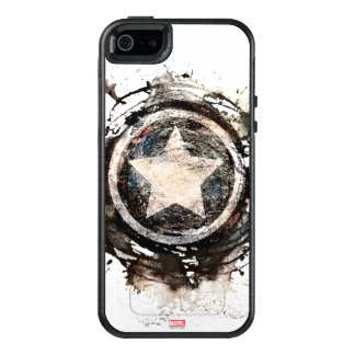 Captain America Grunge Shield OtterBox iPhone 5/5s/SE Case