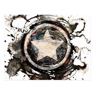 Captain America Grunge Shield Postcard