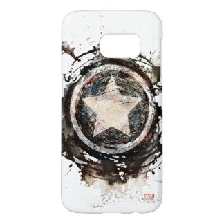 Captain America Grunge Shield Samsung Galaxy S7 Case
