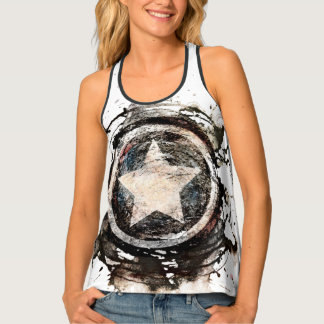 Captain America Grunge Shield Tank Top