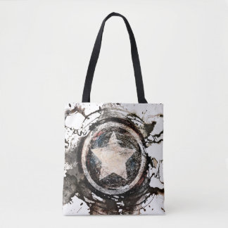 Captain America Grunge Shield Tote Bag