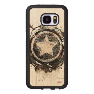 Captain America Grunge Shield Wood Samsung Galaxy S7 Case